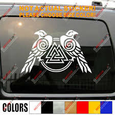 Huginn And Muninn Twin Ravens Valknut Decal Sticker Car Vinyl Norse Odin C Ebay
