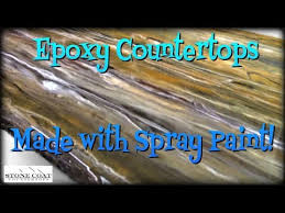 countertops made with spray paint