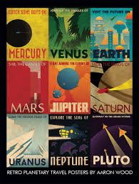 Aaron Wood on Twitter | Space travel posters, Retro poster, Space poster