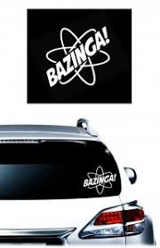 Bazinga Big Bang Jdm Car Window Decal Stickers Custom Sticker Shop