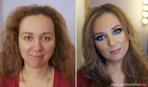 russian s before and after makeup