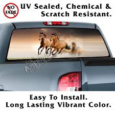 Running Free Horse Back Window Graphic