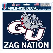 Gonzaga University Bulldogs Zag Nation 5x6 Ultra Decal At Sticker Shoppe