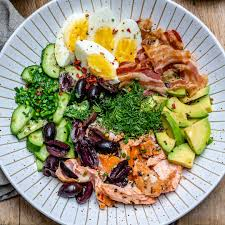 Seared Salmon Avocado Salad - Paleo ...