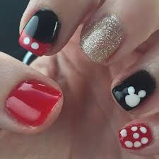 Disney Nail Tutorial - Mickey Mouse Nails | Disney nails, Mickey mouse nails,  Mickey nails