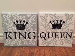King Queen Wall Art Customization Available Queen Bedroom Bedroom Wall Art Painting Crown Decor