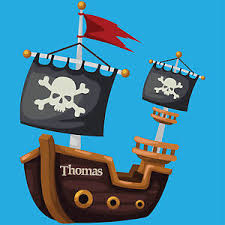 Personalised Pirate Ship Boys Bedroom Wall Sticker Decal Boat Ebay