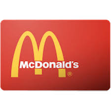 mcdonalds gift card 5 value only 4