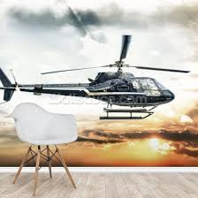 helicopter wall mural wallsauce us