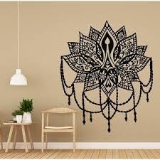 Shop Lotus Wall Decal Yoga Studio Vinyl Sticker Indian Wall Decor Boho Overstock 31718886