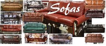 alluring furniture rustic sofa cowhide