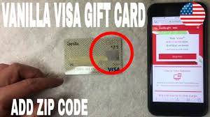 zip code to vanilla visa gift card