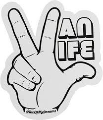 Amazon Com Vanofmydreams Van Life Hand Sticker Decal Automotive