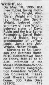 Obituary for Ida WRIGHT - Newspapers.com