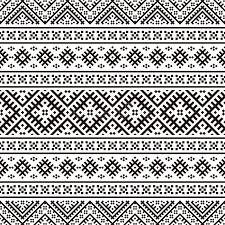 tribal ethnic pattern vector black