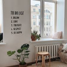 Vinyl Wall Art Decal To Do List Dream Love Tolerate Respect Be Hap Imprinted Designs