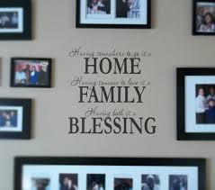 Home Family Blessing Beautiful Wall Decals