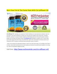 faster than ever with cla safflower oil