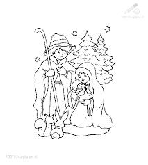 1001 Kleurplaten Kerst Jezus Kleurplaat Jozef Maria Jezus