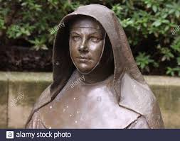 Bronze Statue Bust of Mary MacKillop Heritage Centre East Melbourne Stock Photo - Alamy