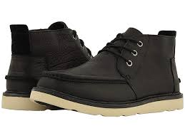 toms chukka waterproof black leather