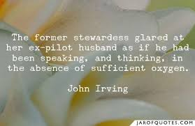 the former stewardess glared at her ex pilot husband as if he had