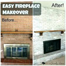 updating old brick fireplace lourbano me