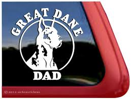 Harlequin Great Dane Dad Dog Decals Stickers Nickerstickers
