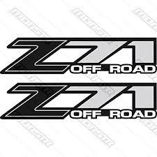 Chevrolet Silverado Z71 Off Road Black Gm Hd Chevy Decals Stickers 1500 2500 3500 Check Price Thoma Kb1