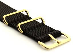 g10 nylon watch strap band gold buckle