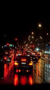 road traffic trees lights 3840x2160