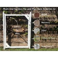 Snapfence 3 Ft W X 4 Ft H White Vinyl Multi Use Adjustable Fence Gate Gk 4 The Home Depot