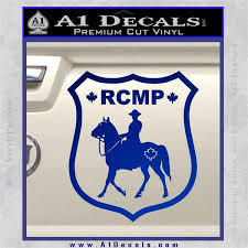 Rcmp Decal Sticker Canada Mounted Police Badge A1 Decals