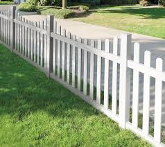 Impressive Front Yard Metal Fences Of White Dog Ear Fence Design Acnn Decor