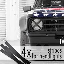 Buy 4x Headlights Stripes Jdm Low Event Hoonigan Stance Racing Drift Car Vinyl Sticker Decal