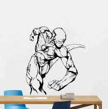 Flash Poster Wall Decal Vinyl Sticker Wall Sign Stencil Etsy