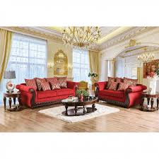 corinna ruby red sofa set for