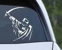 Grim Reaper Holding Scythe I Die Cut Vinyl Decal Sticker Decals City