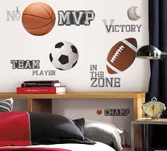 Roommates All Star Sports Saying Peel And Stick Wall Decals Decorative Wall Appliques Amazon Com