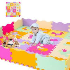 Baby Play Mat With Fence Interlockin Foam Floor Tiles With Crawling Mat Ebay