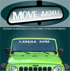 Move A Hole Windshield Decal Topchoicedecals
