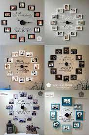 photo wall clocks diy wall decor