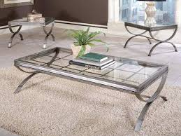 silver coffee table set