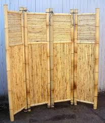 Bamboo Screen Divider Room Divider Four Panel