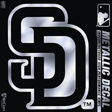 San Diego Padres Mlb Team Logo 1 Color Vinyl Decal Sticker Car Window Wall