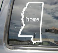 Mississippi Home State Outline Usa Car Vinyl Die Cut Decal Sticker 07007 Ebay