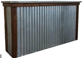 corrugated galvanized steel panel at