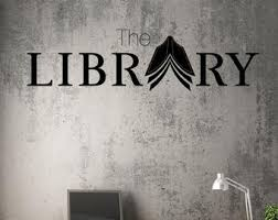 Library Wall Decals Etsy