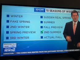 The 10 seasons of Wisconsin, according ...