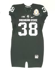 Byron Bullough Game Used & Signed Green Michigan State Spartans Nike Jersey  – Worn for 2016 Spring Football Game! - Big Dawg Possessions